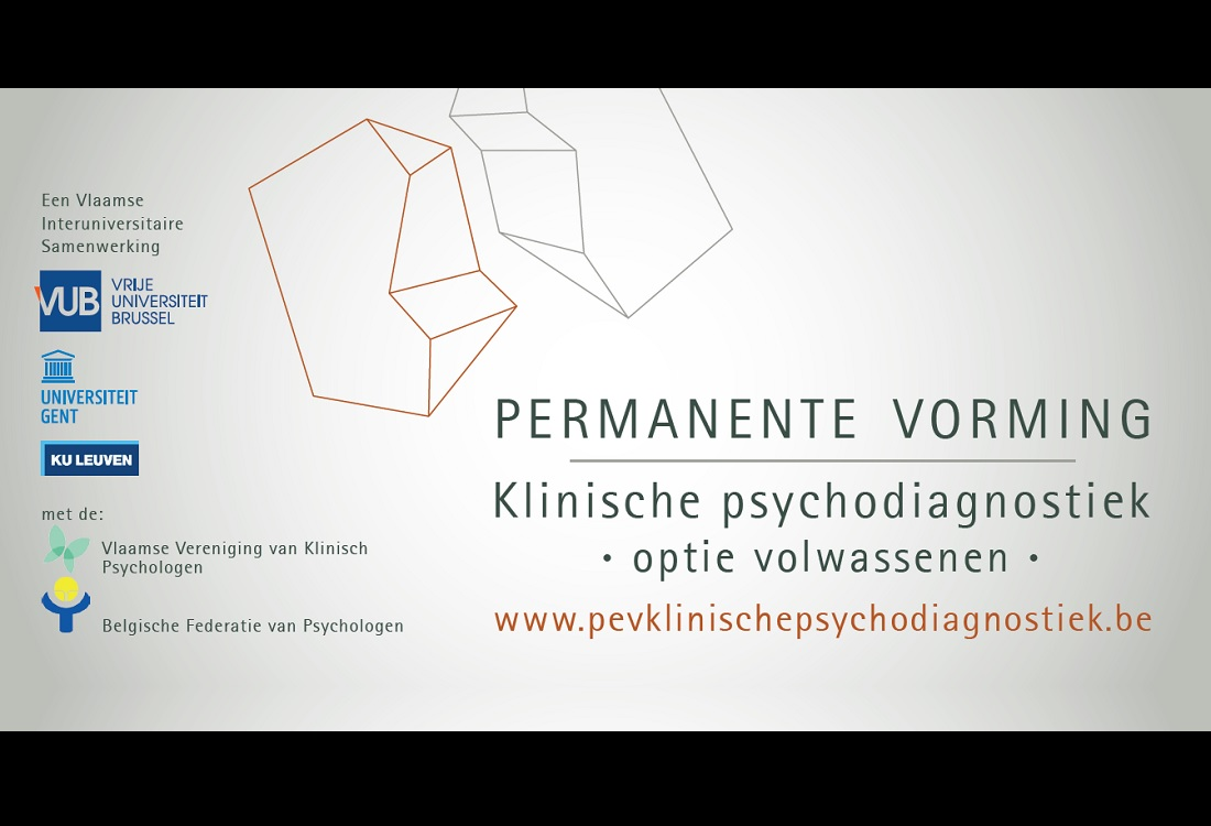 PEV Klinische Psychodiagnostiek Volwassenen start in september
